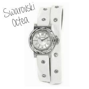 Swarovski Octea Crystal Watch Leather Wrap Bracele